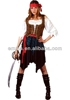 Adult Ladies Pirate Fancy Dress Costume Lady Womens Caribbean Pirates BW862