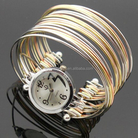 Brand New Classic Ladies Girls Multilayer Stainless Steel Bangle Bracelet Quartz Watch
