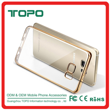 Clear Electroplate frame TPU Mobile cell Phone Case for samsung galaxy s8 plus note3 note4 note5 J110 J5 J7 C7 A310 A510 A7