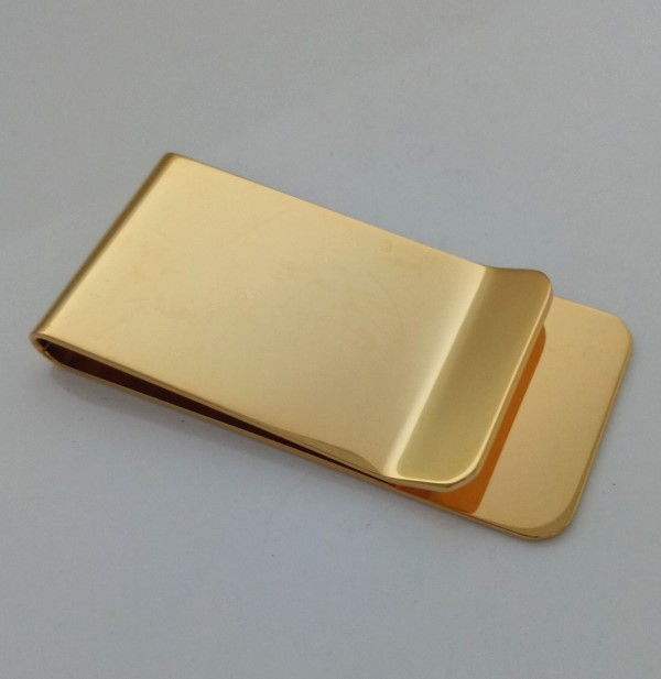 Shenzhen CR jewelry factory wholesale 18k gold blank money clips