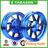 Hot Sale Blue TRAZON Front and Rear Ruedas Motocicleta For Sale