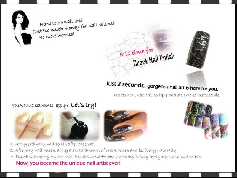ESTILO CRAZY CRACK NAIL POLISH