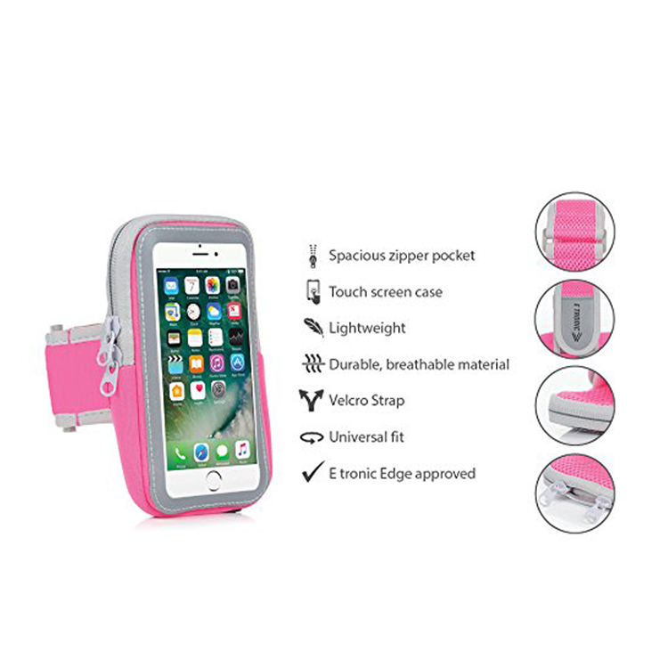 Multifunctional Elastic Neoprene Armband Waterproof Mobile Phone Wrist Pouch Arm Bag For Running