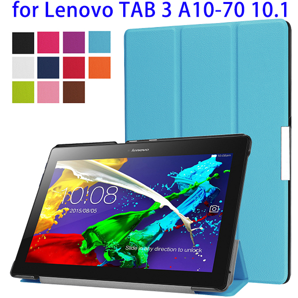 Super September Purchasing Tri-Fold Leather Cover For Lenovo Tab 3 <strong>A10</strong>-70 10.<strong>1</strong>, Electronics Tablet Cases For Lenovo <strong>A10</strong>-70 Cover
