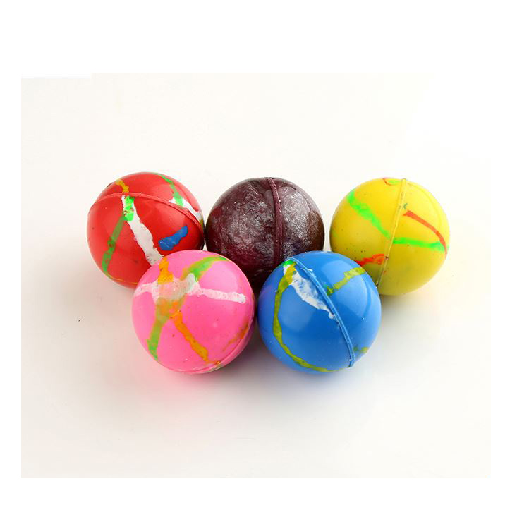 Directly sale custom design promotional bulk 32mm rubber bouncy ball