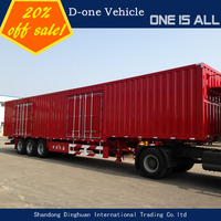 Chinese cheap used 30ft triple axles van trailer cargo trailer