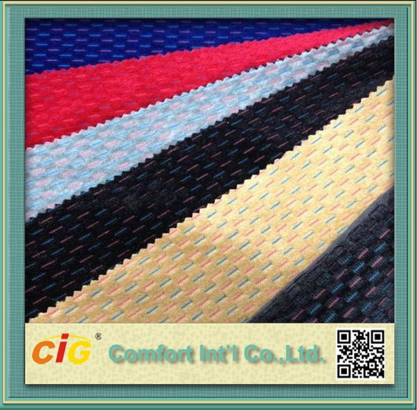 New Style 100% Polyester Warp Knitting Jacquard Car Seat Cover Fabric