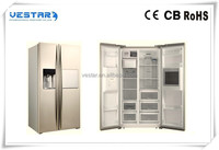 white and stainless steel cheap electric refrigerator/fridge and freezer/side by side