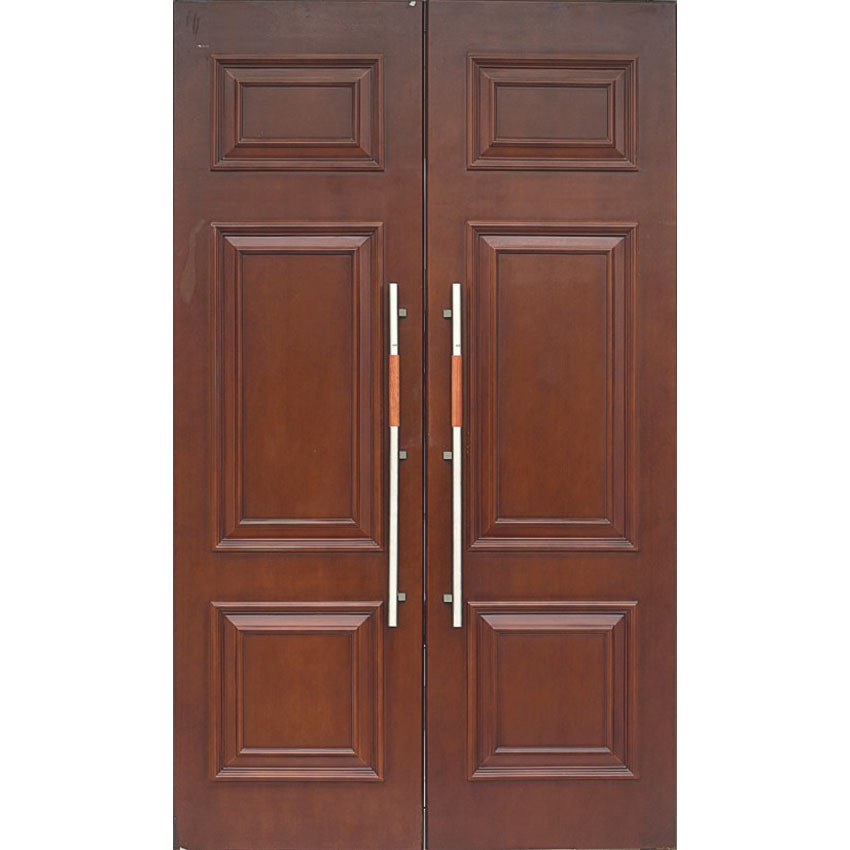 exterior double solid wood door Construction house project 0223-HS06