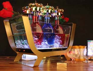 LED charging LED ice bucket 6 pack boat champagne bucket colorful wine wine bucket acrylic beer barrel