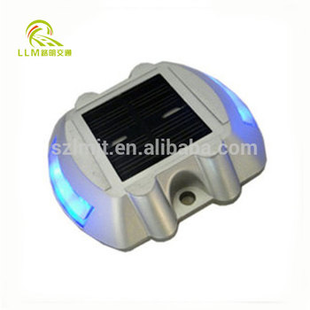 CE approved White LED landscape light aluminum solar road stud