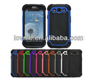 Shockproof Protective Black Defender Heavy Duty Protective Hard Full Body Cover Case for Samsung Galaxy i9300 S3 (Black)