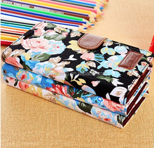 ean Cloth Flowers Design Stand Mobile Phone Flip Leather Cover Case for Samsung Galaxy S5 I9600 with Card Slots