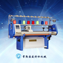 single system type,automatic cotton yarn scarf knitting machine with jacquard pattern