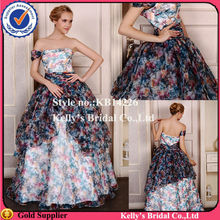 rainbow colored off-shoulder cocktail dresses ball gown evening dresses for time pictures