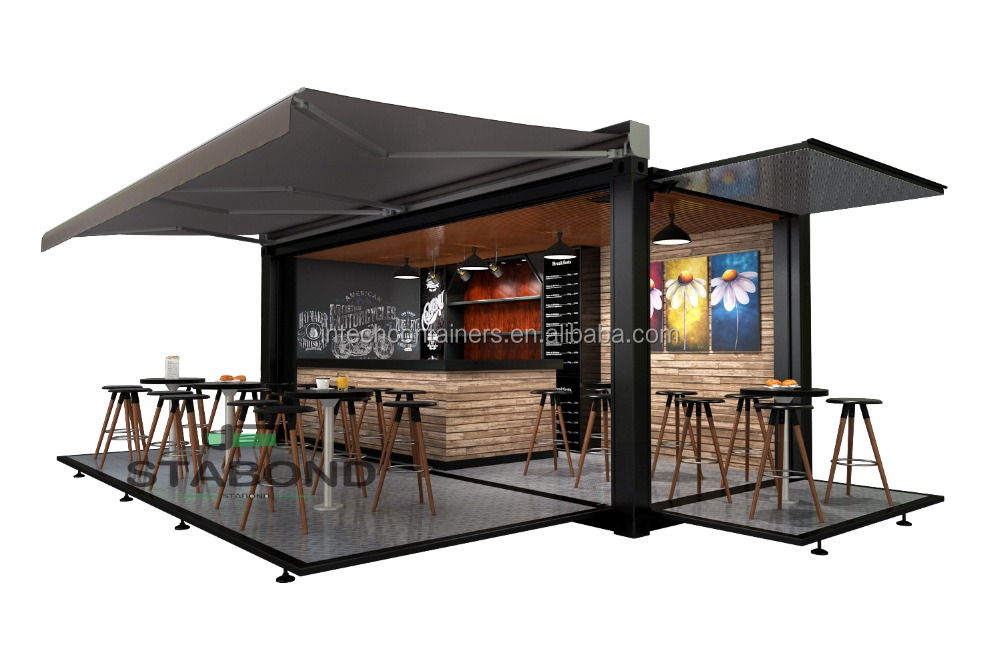 20FT Coffee shop Shipping Container Pop Up Container for events and road shows