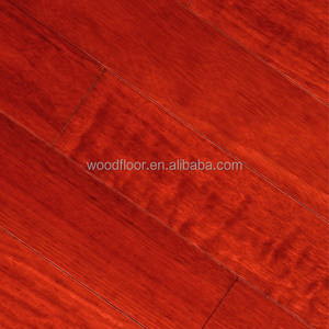 UV Lacquer anti-scratch Prefinished Kempas Hardwood flooring
