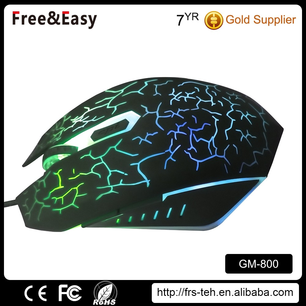 New style 6D LED light computer wired optical mice gaming