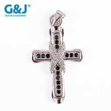 wholesale Fashion Jewelry Accessories Micro Pave CZ Cross Pendant Beads For Bracelet Making