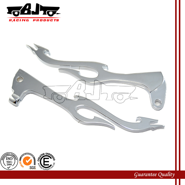 BJ-LS285-009 cnc aluminium motorcycle part adjustable clutch brake handle lever for Yamaha XV535
