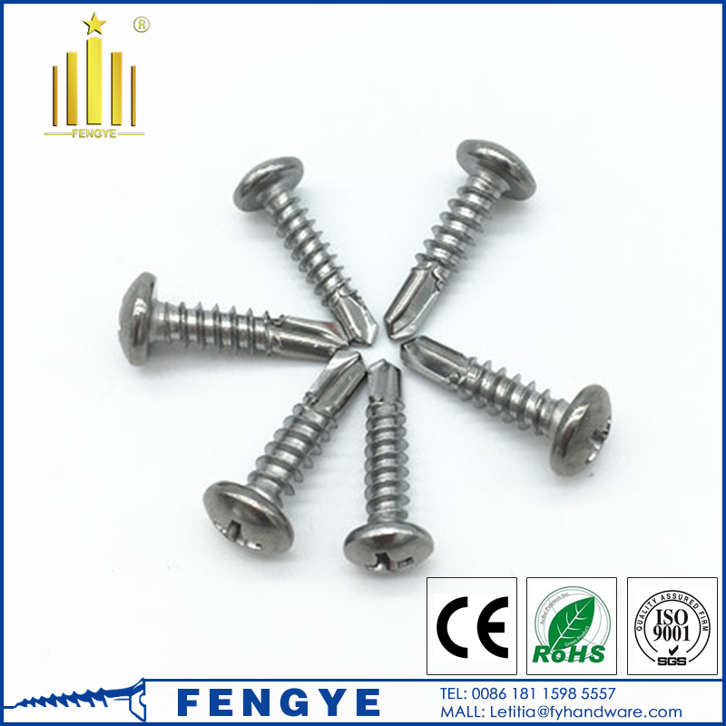 M5 stainless steel wafer head self drilling screws