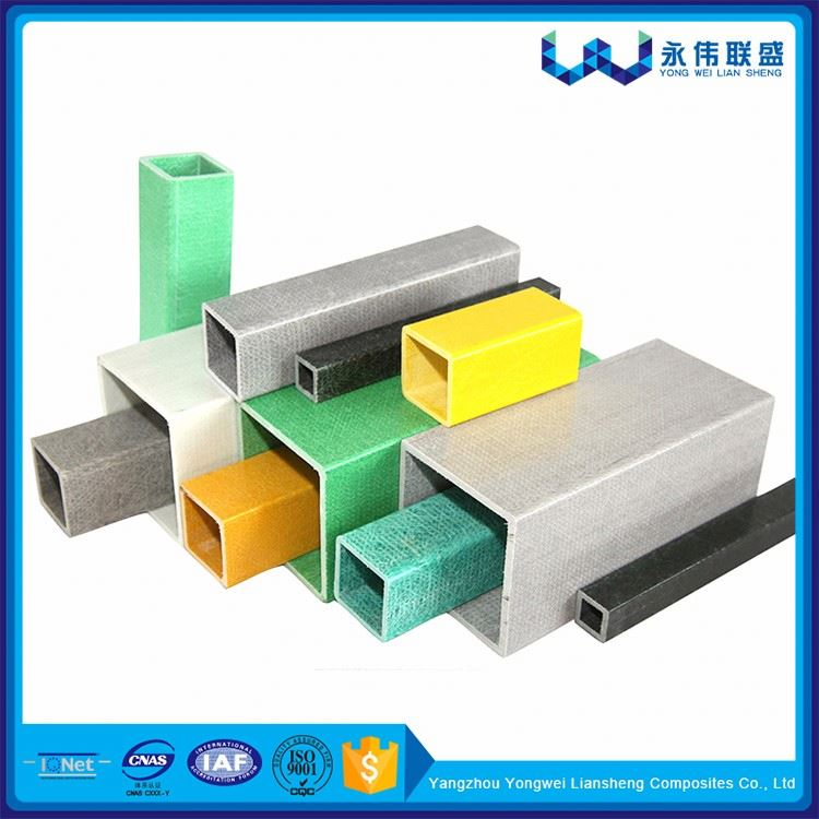 Hot New Products Pultruded Fiberglass Square Tube For Cross Arm
