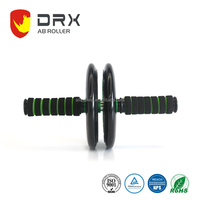 DRX AR001 Crossfit Exercise Double PU Wheel Foam Grip AB Roller