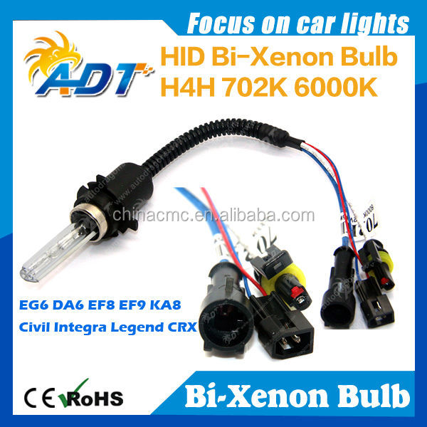 Automotive Headlight HID xenon bulb H4 HI/LO Lamp H13 9004 9007 Xenon+Halogen lamp