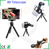Smartphone telescope 8x zoom optical telescopic telescope monocular long range scope sight manual focus telephoto lens