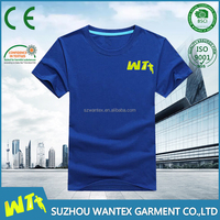 wholesale blue short sleeves shirt cheap cotton tshirt in summer custom print polo tshirt
