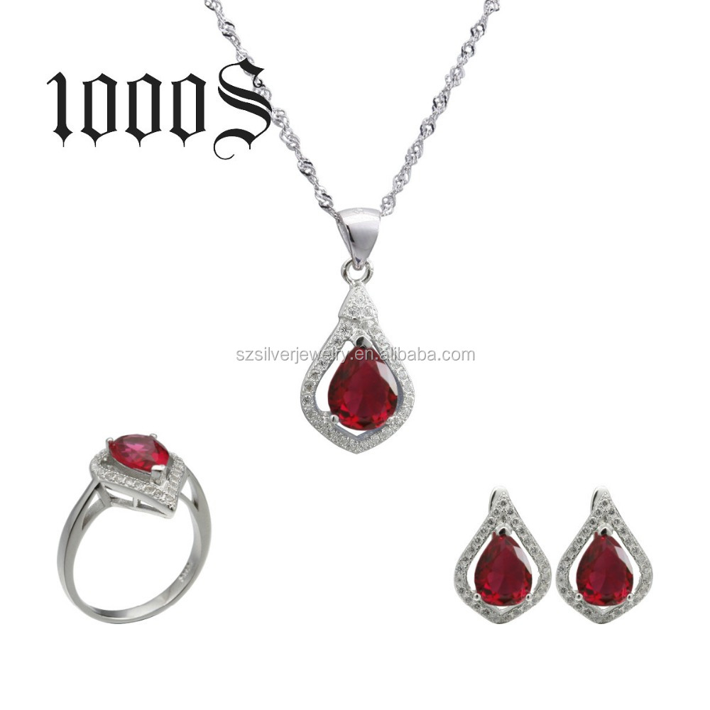 Silver Rani Haar Jewelry Set 925 Cubic Zirconia Wedding Gemstone Jewellery