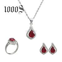Silver Rani Haar Jewelry Set 925 Cubic Zirconia Wedding Gemstone Jewellery