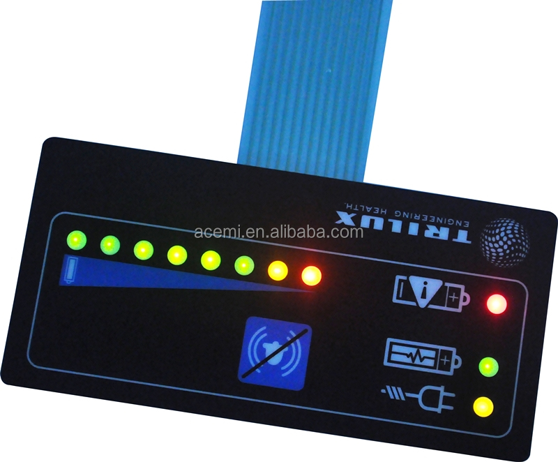 Manufacturer high quality membrane switches with LEDs and metal domes