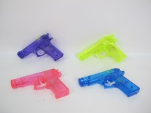 plastic summer shantou chenghai transparent water gun toys--4color assorted