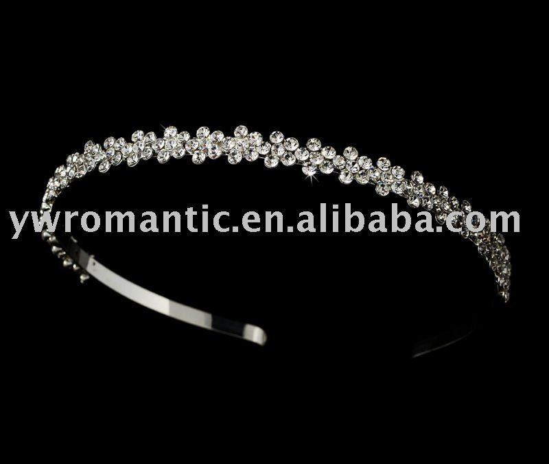 hot sale headband cheap rhienstone flower girl tiara