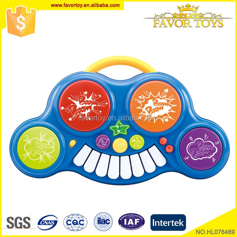 Battery operated musical instrument kids mini plastic electronic drum toy