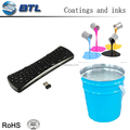 Simple process two-component silicone printing ink