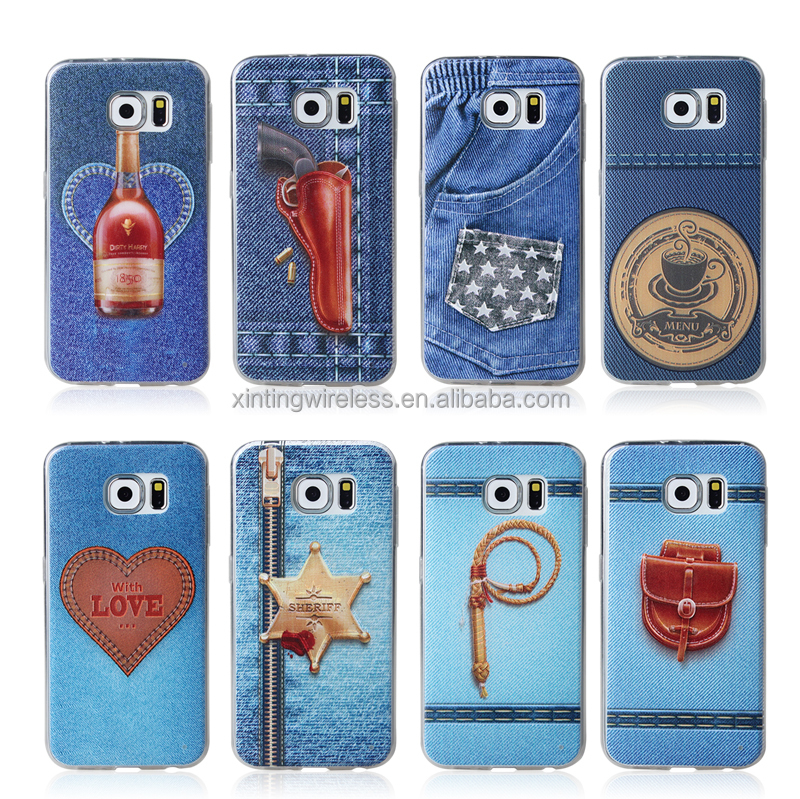 2015 design jeans TPU case for samsung S6