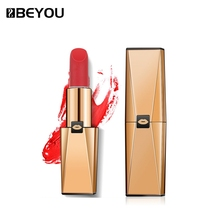 BEYOU Private Label Natural Matte Lipsticks Hemp Oil Frosted Lipstick Makeup Orange Color Carrot Lipstick