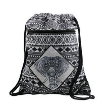 Cinch Sack Nylon Polyester Oxford 210D Material Recycled Backpack Gym Sack Sports Shoe Bag Drawstring Bag