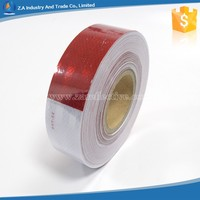 Wholesale PET Micro-prismatic DOT C2 reflective tape 15cm red * 15cm white High Quality Self Adhesive Reflective Tape