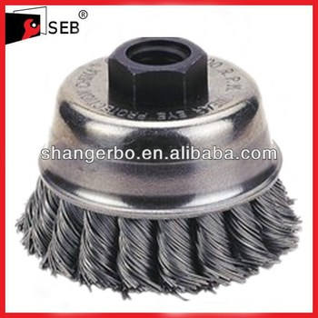 Knot Carbon Steel Wire Cup Brush