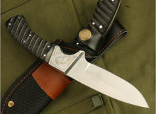 OEM 7Cr17MOV hunting knife fixed blade with ox horn handle