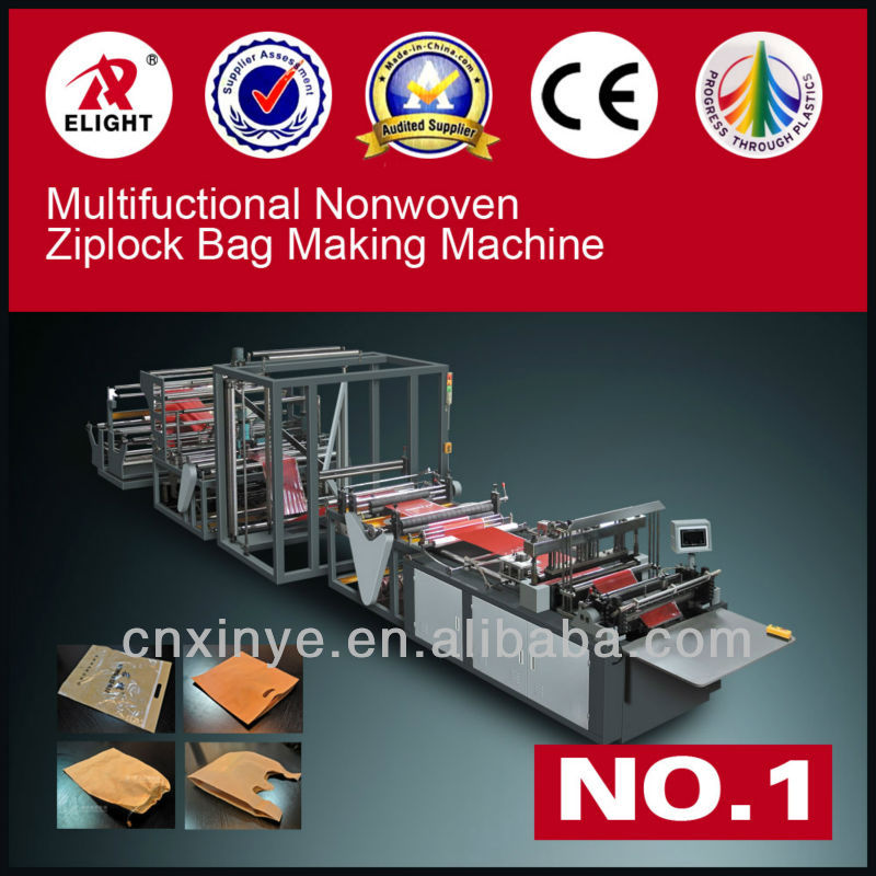 Nonwoven fabrics ZipLock Bag cutting and sealing Machinery