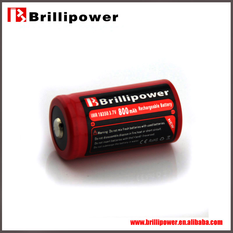 Brillipower 4.8v nimh rechargeable battery pack imr 18350 700mah rechargeable safe battery