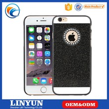Hot Selling High Quality 6 Colors Available Rhinestone Bling PC Back Cover Case for iPhone 6s Plus with Logo Hole