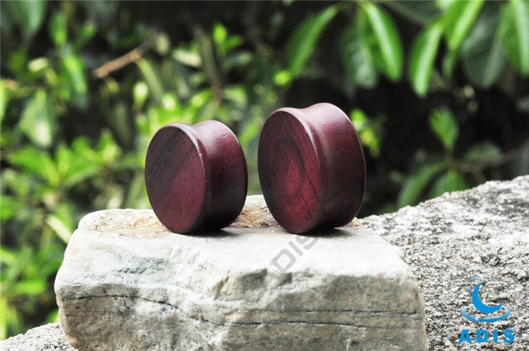 Healthy Material Luxury Jewelry In Dubai Rose Wood Earring Plug