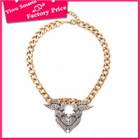 Europe and the United States hot selling 2016 african trendy big gold pendant jewellery necklace for women