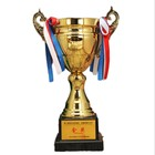 Wholesale customized gold silver and bronze zinc alloy metal cup sport trophy