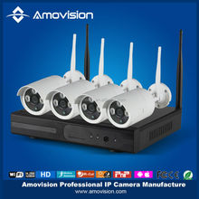 Amovision WNk402 4ch wireless nvr kit, IP66 waterproof IP Camera and 4Ch WiFi NVR, Plug in and play, very easy and simple